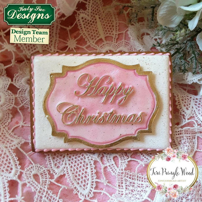 Happy Christmas Large Plaque Silicone Mould