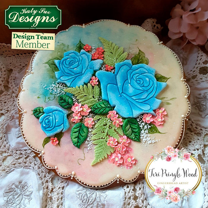 CD - Cake Decorating Idea using Roses Silicone Embossers