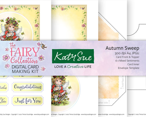 The Fairy Collection Autumn Sweep | Digital Card Making Kit