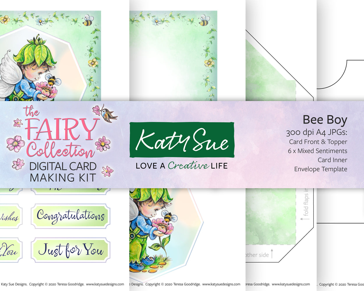 The Fairy Collection Bee Boy | Digital Card Making Kit