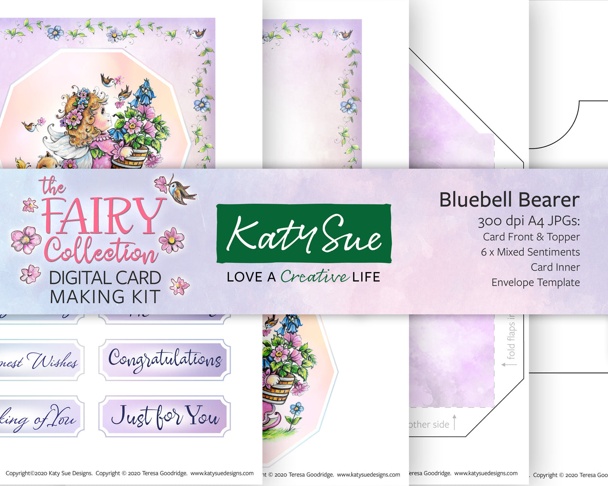 The Fairy Collection Bluebell Bearer | Digital Card Making Kit