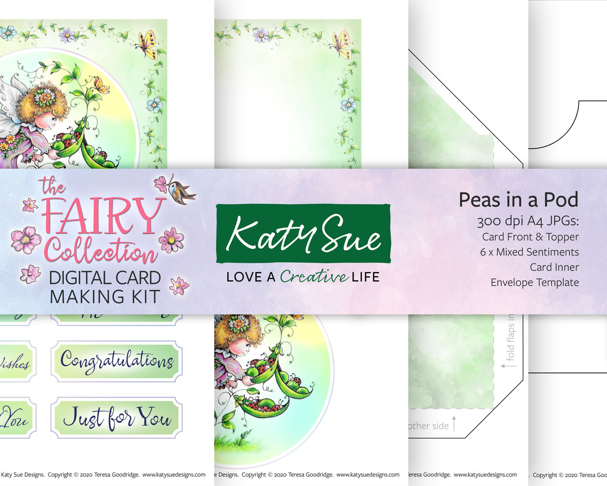 The Fairy Collection Peas in a Pod | Digital Card Making Kit