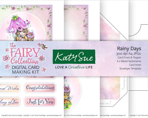 The Fairy Collection Rainy Days | Digital Card Making Kit