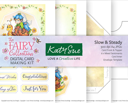 The Fairy Collection Slow and Steady | Digital Card Making Kit