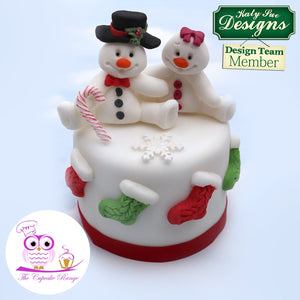 CD - An idea using the Snowman Sugar Buttons Silicone Mould product