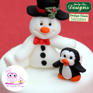 Snowman Sugar Buttons Silicone Mould