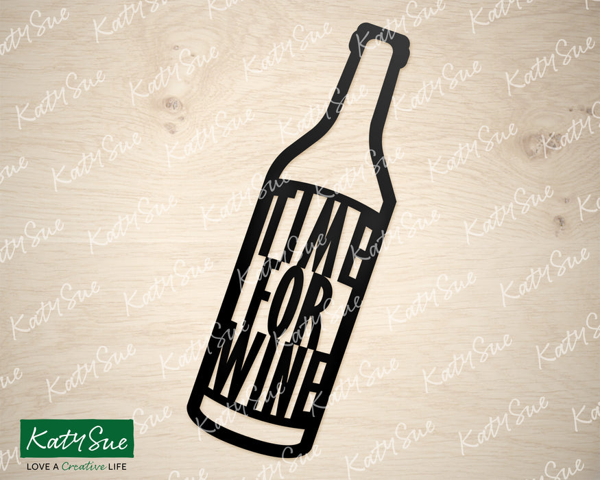 Time for Wine | Digital Cutting File