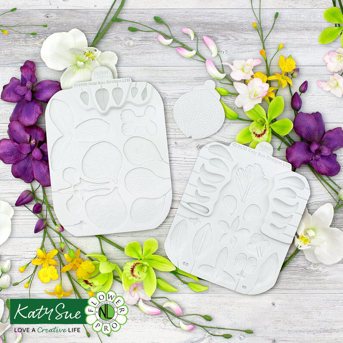 Flower Pro Ultimate Orchids Silicone Moulds and Veiner Set