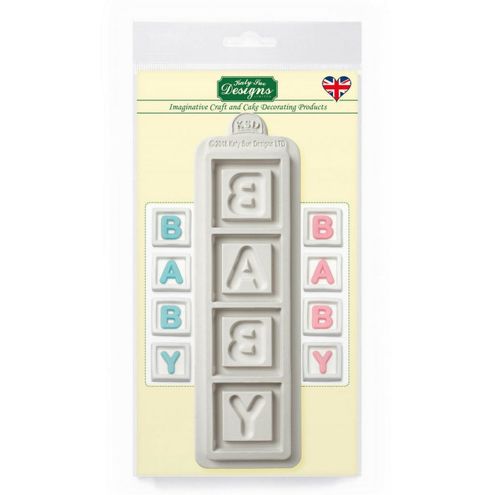 Baby Blocks Silicone Mould for Cake Decorating and Craft