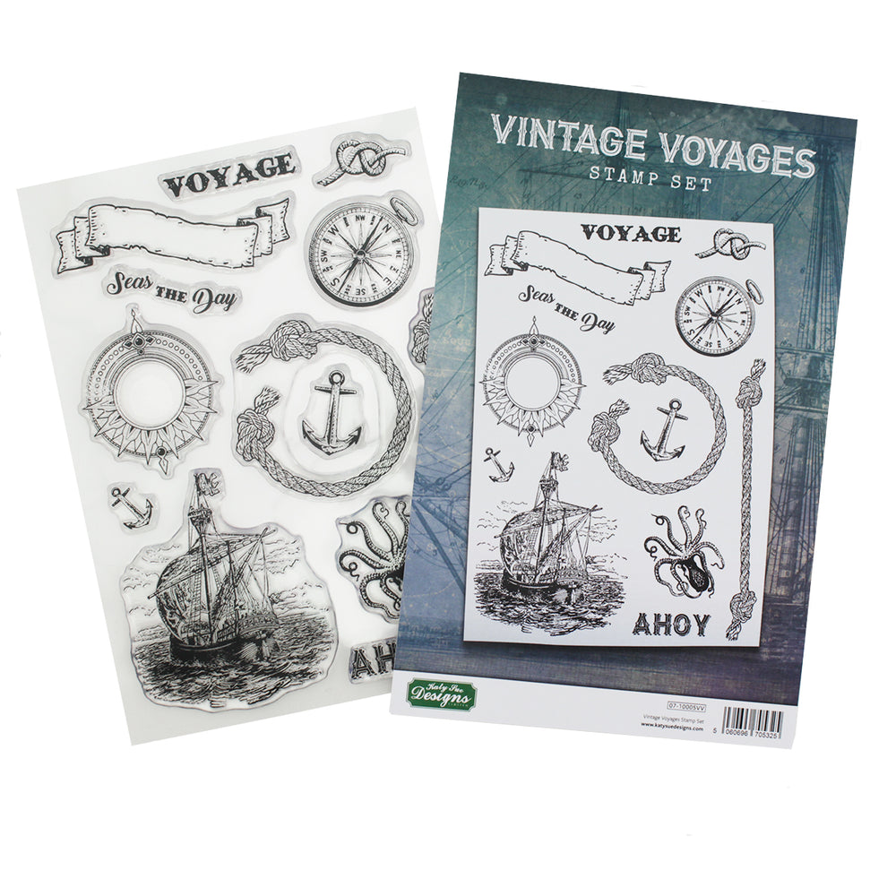 Vintage Voyages Stamp Set
