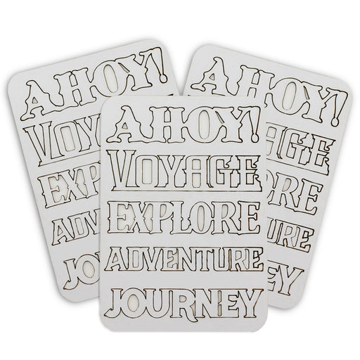 Vintage Voyages Mountboard Words (Pack of 3)