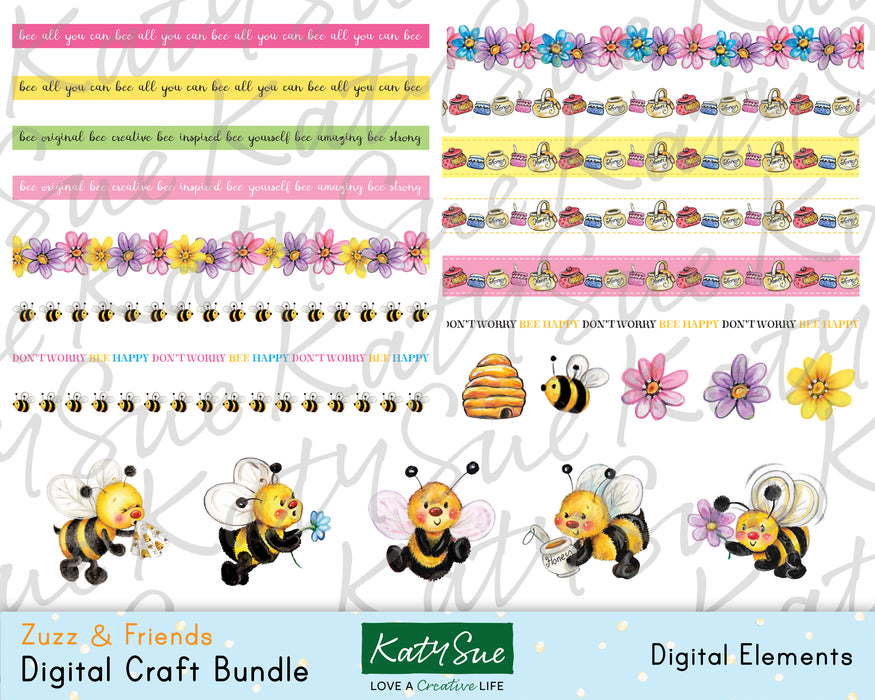 Zuzz and Friends | Digital Craft Bundle