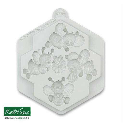 Zuzz and Friends Bees Silicone Mould for Cake Decorating and Craft
