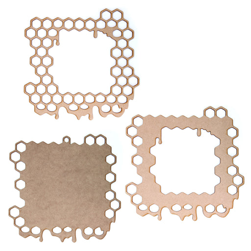 MDF Honeycomb Frames - Pack of 2