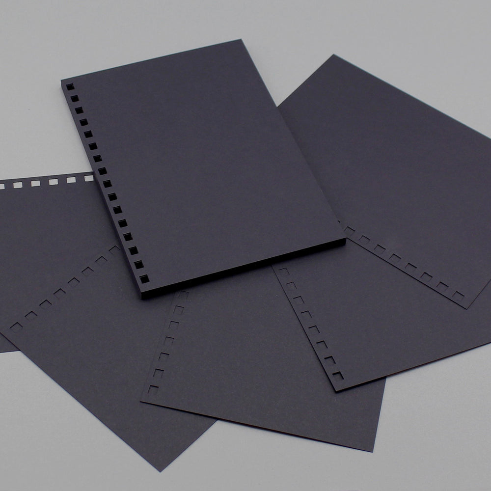 Build a Book A5 Punched Cardstock -  24 Sheets Black 240gsm