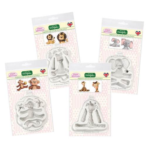 Sugar Buttons Safari Bundle *FREE Elephant Mould*