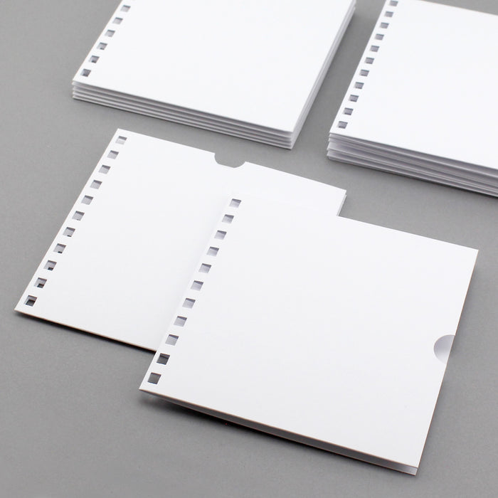 Build a Book  Punched Pockets - Pack of 12 White 144 x144mm 300gsm