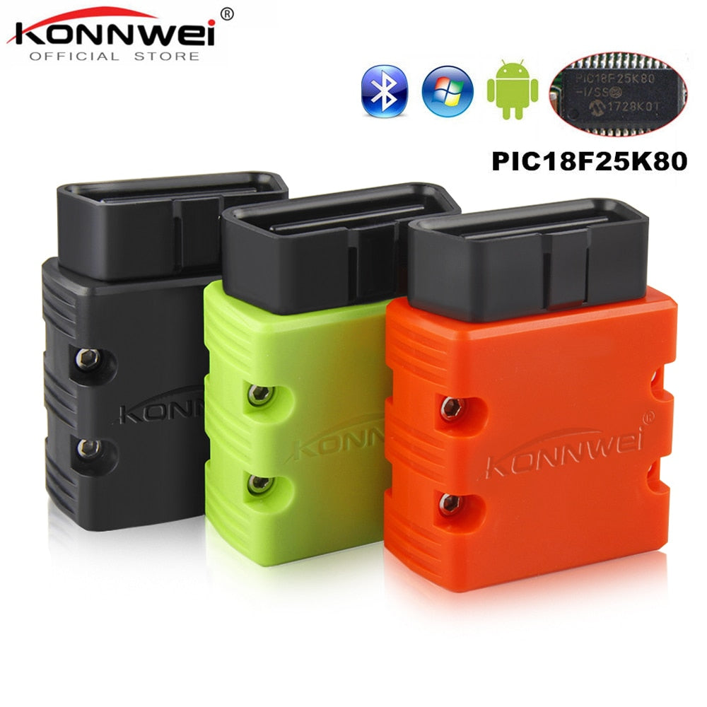 KONNWEI KW902 Elm327 Bluetooth OBD2 Auto Diagnostic Scanner