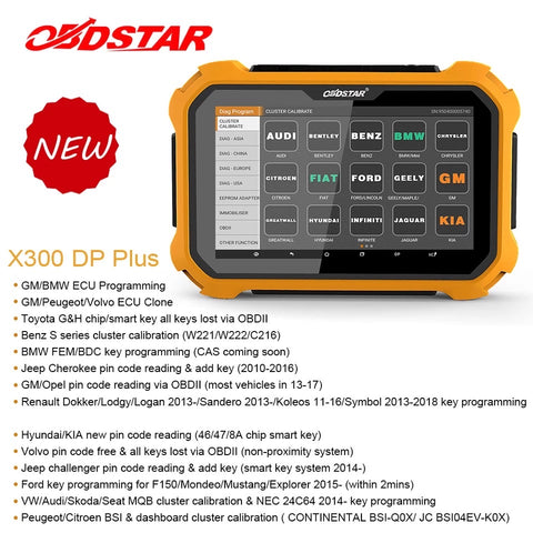 OBDSTAR X300 DP Plus Full Key Programmer