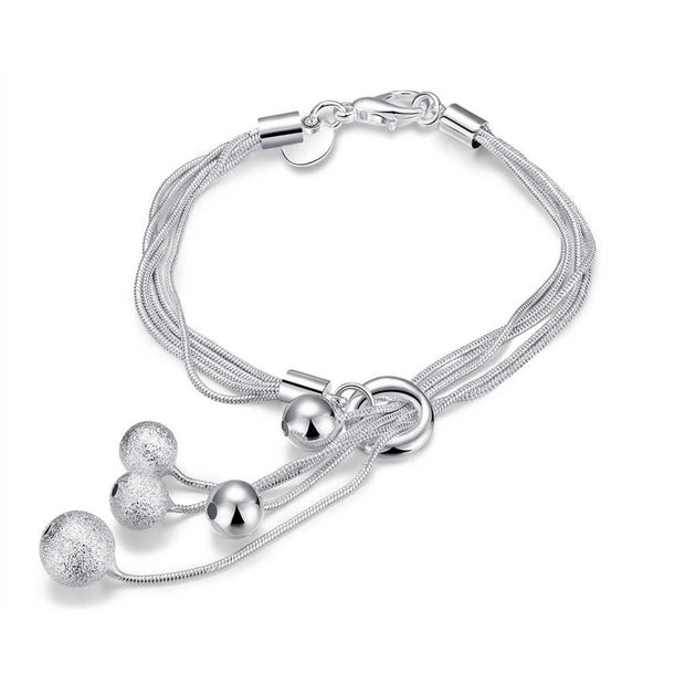 H243  Latest Women Classy Design  silver plated bracelet Factory Direct Sale