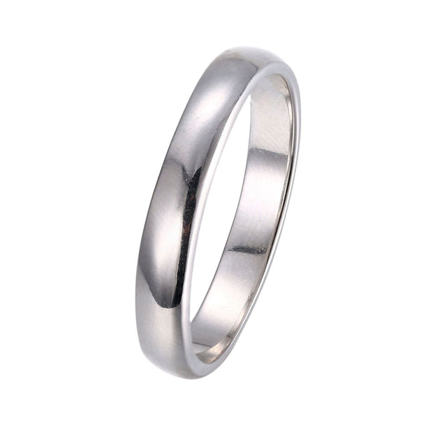 LKNQHS925R010  Simple classic ring white copper plated platinum ring
