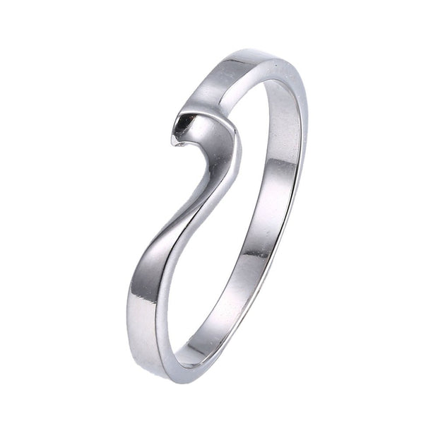 LKNQHS925R001 Simple classic ring white copper plated platinum ring