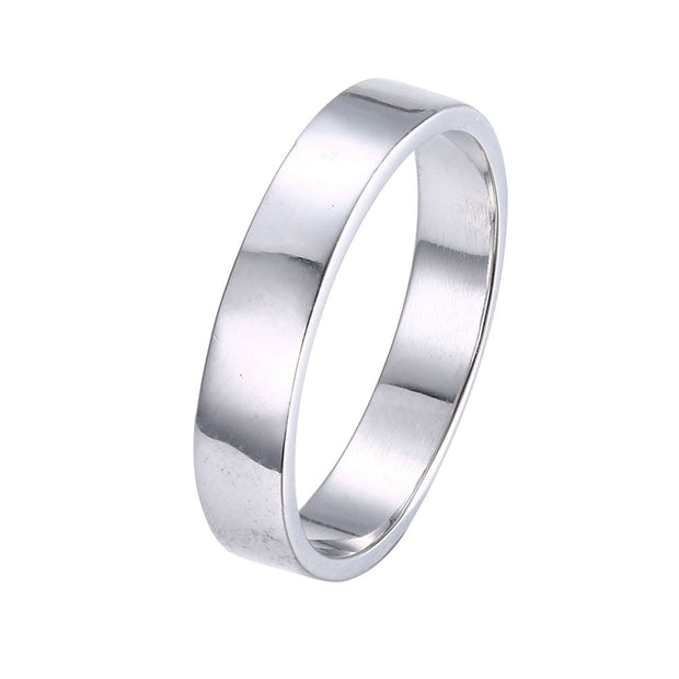 LKNQHS925R036 Simple classic ring white copper plated platinum ring