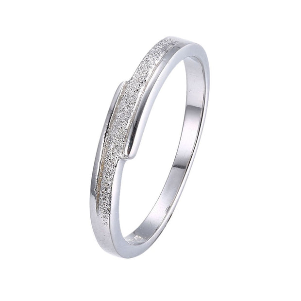 LKNQHS925R037 Simple classic ring white copper plated platinum ring