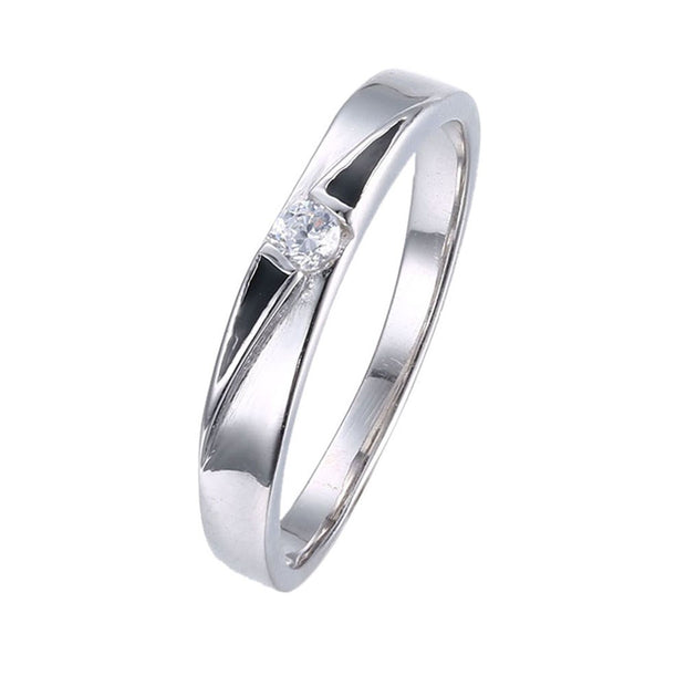 LKNQHS925R042 Simple classic ring white copper plated platinum ring