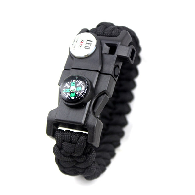 LED light hand, emergency survival, hand rope, outdoor survival bracelet, rescue rope, self-defense weapon equipment