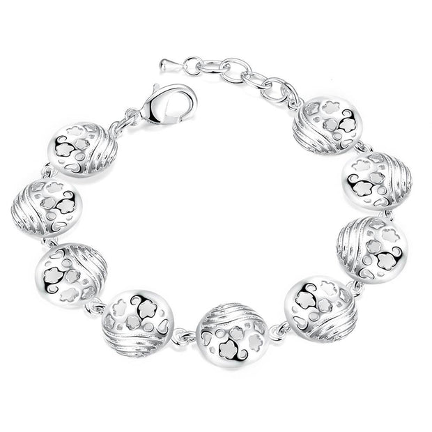 H429  Latest Women Classy Design silver plated bracelet Factory Direct Sale