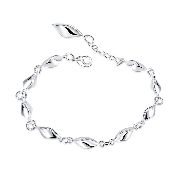 H447  Latest Women Classy Design silver plated bracelet Factory Direct Sale