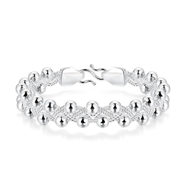 H397  Latest Women Classy Design  silver plated bracelet Factory Direct Sale