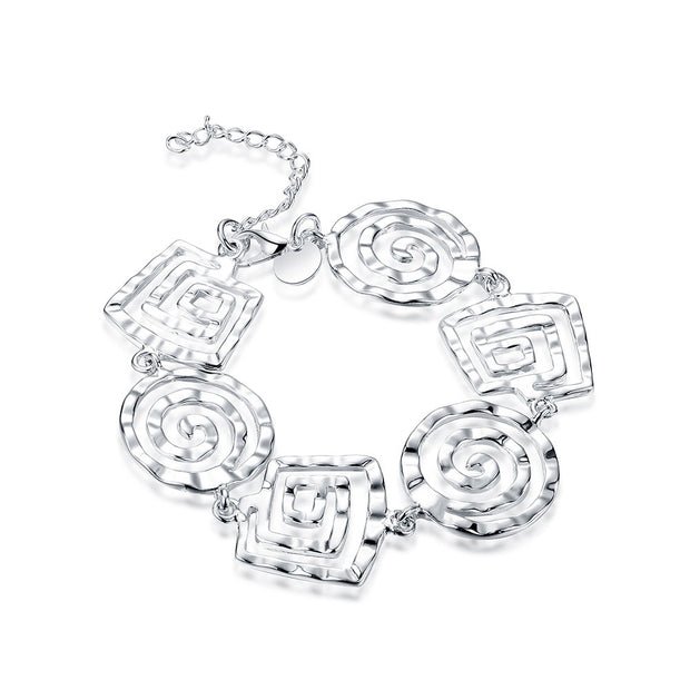H324  Latest Women Classy Design  silver plated bracelet Factory Direct Sale