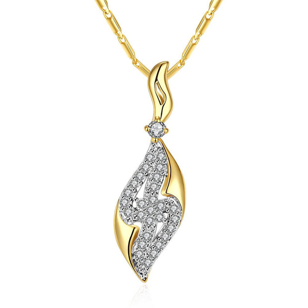 N009-AHigh Quality zircon necklace Fashion Jewelry Free shopping 18K gold plating necklace