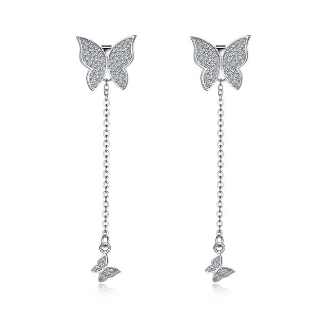 LEKANI S925 Butterfly double ear nail