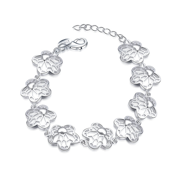 H448  Latest Women Classy Design silver plated bracelet Factory Direct Sale