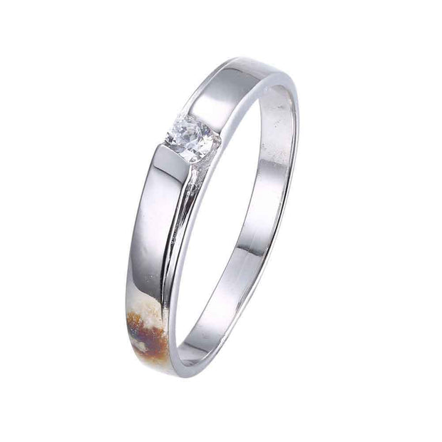 LKNQHS925R062  Simple classic ring white copper plated platinum ring