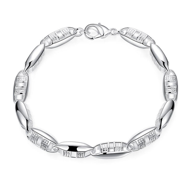 H417  Latest Women Classy Design silver plated bracelet Factory Direct Sale