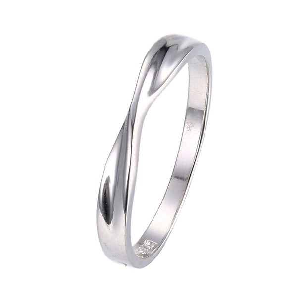 LKNQHS925R023 Simple classic ring white copper plated platinum ring