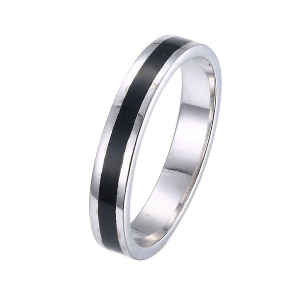 LKNQHS925R050  Simple classic ring white copper plated platinum ring