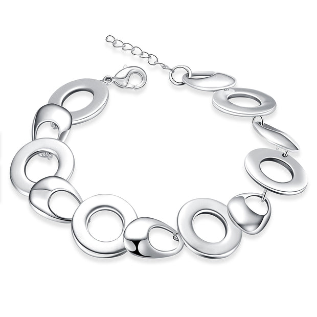 H444 Latest Women Classy Design silver plated bracelet Factory Direct Sale