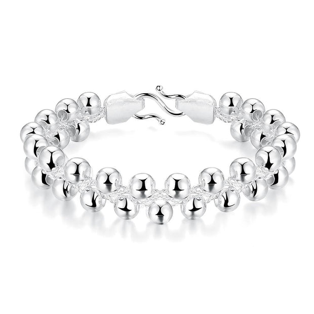 H395  Latest Women Classy Design  silver plated bracelet Factory Direct Sale