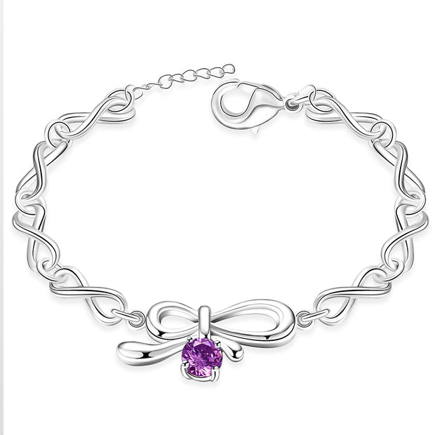 H441  Latest Women Classy Design silver plated bracelet Factory Direct Sale