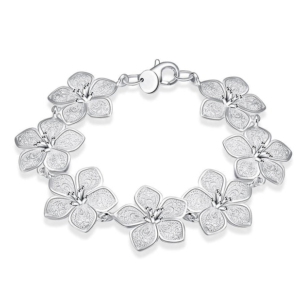 H317  Latest Women Classy Design  silver plated bracelet Factory Direct Sale