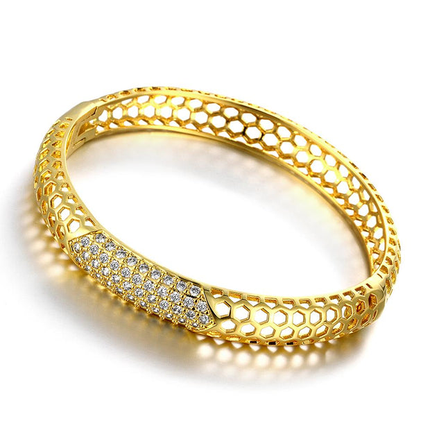 Z028-A Good Quality Nickle Free Antiallergic 2015 New Fashion Jewelry 24K Gold Plated Bracelets