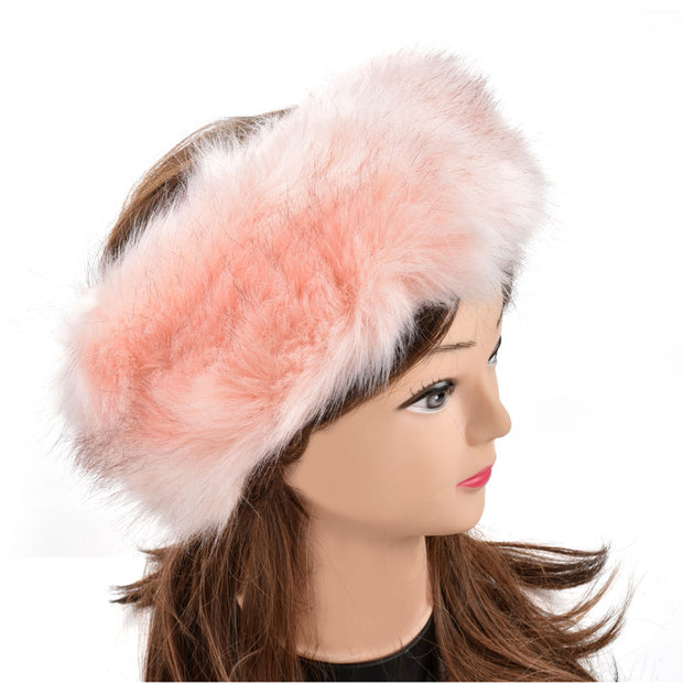 HGRQ176-1 Pink  -  Luxury Fur Headband