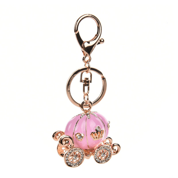 HGRQ298 Prink - Pretty Pumpkin Car Pendant Bag Charm