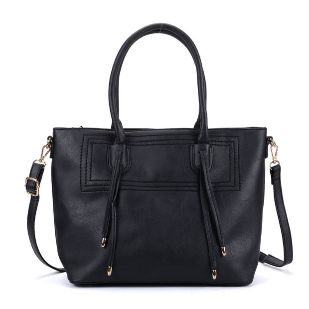 K0047 Black - New Style Women Large Tote Bag