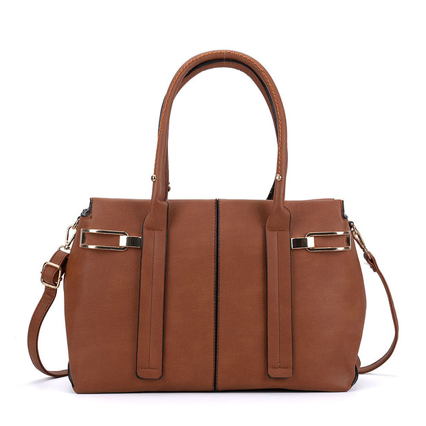 K0052 Tan - Tote Bag With Adjustable Straps